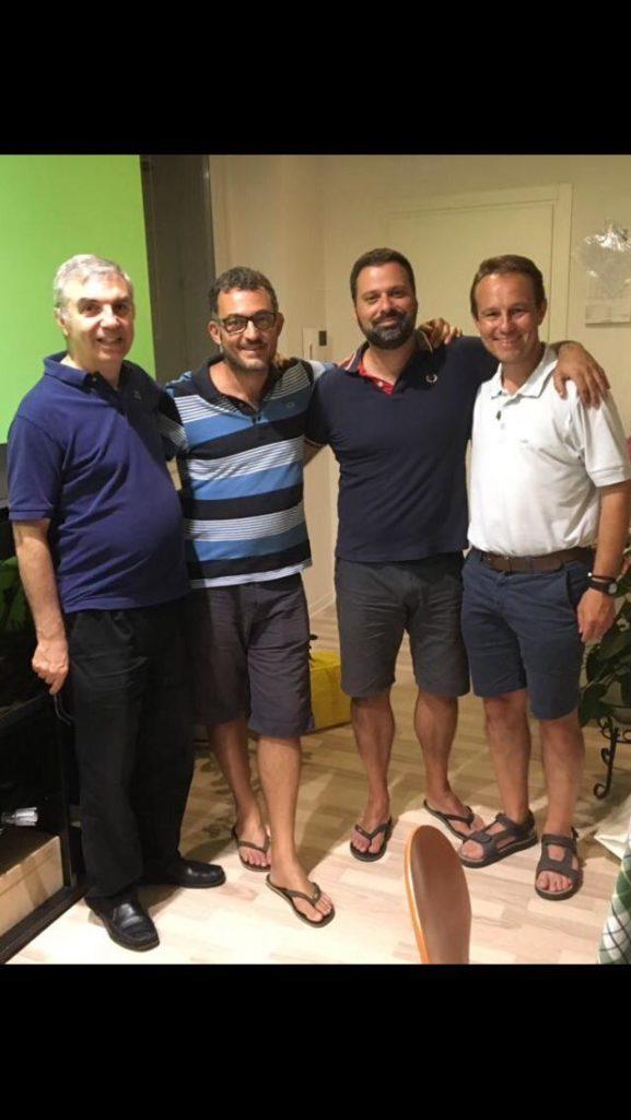 Don Christian con alcuni confratelli della diocesi
