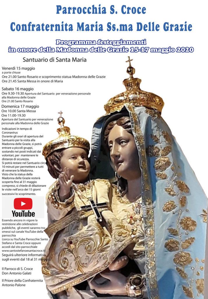 Programma festeggiamenti in onore della Madonna delle Grazie 2020